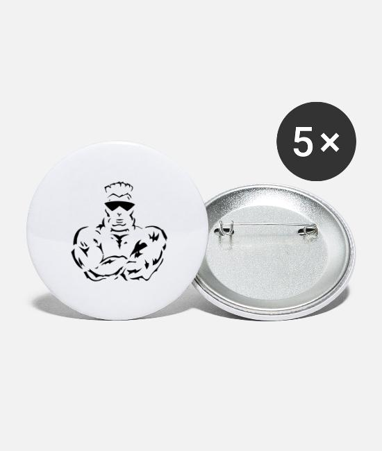 Exercise Buttons - Gym Fitness - Large Buttons white