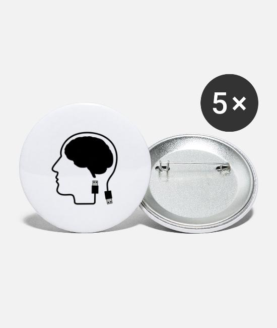 Brain Buttons - Brain Digital - Large Buttons white