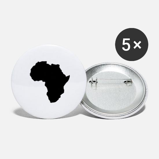 Continent Buttons - africa - Large Buttons white