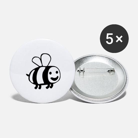 Kind Buttons & Anstecker - Bee - Buttons groß Weiß