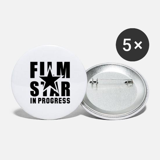 Musicien Badges - FILM STAR EN COURS - Grands badges blanc