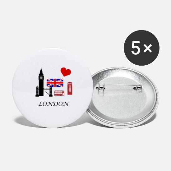 Londres Badges - Londres - Grands badges blanc