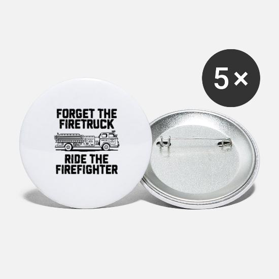 Fire Extinguisher Buttons - Firefighter firefighter - Large Buttons white