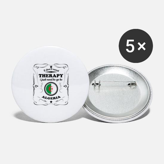 Gift Buttons & badges - DON T BRUG FOR TERAPI GO ALGERIET - Store buttons hvid