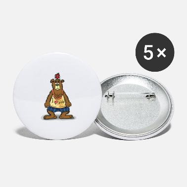 Bearded I love birds - Large Buttons