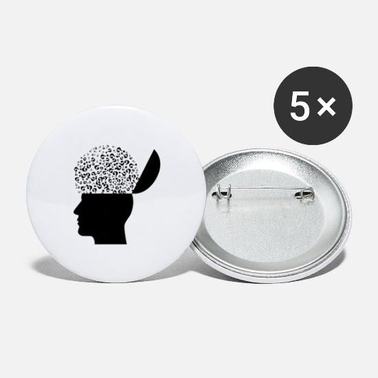 Boss Buttons - Mental Health - Large Buttons white