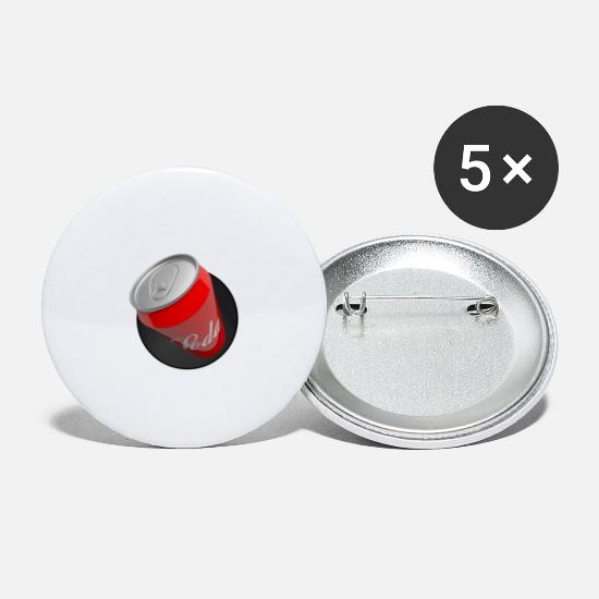 Red Buttons - Can of Cola - Large Buttons white