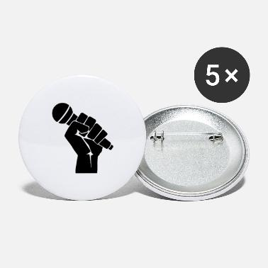 Fist with microphone - Large Buttons