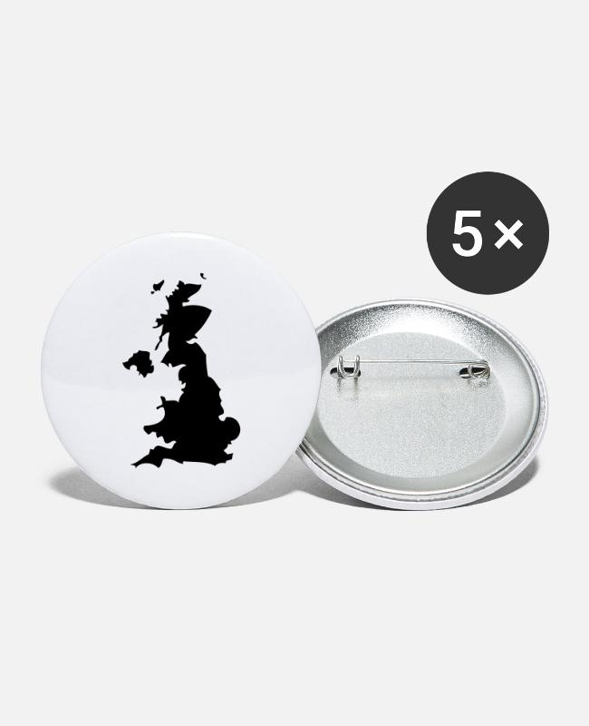 EU Buttons - Great Britain - United Kingdom - Large Buttons white