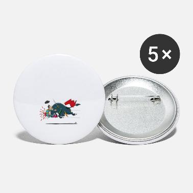 Bullfighting Olé, unfortunate bullfighter (for gray shirts) - Large Buttons