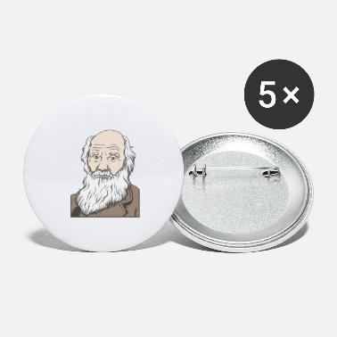Charles Darwin Charles Darwin Portrait Gift Evolution - Large Buttons