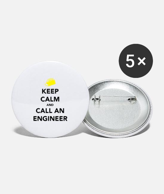 Calm Buttons - Keep Calm Engineer - Large Buttons white
