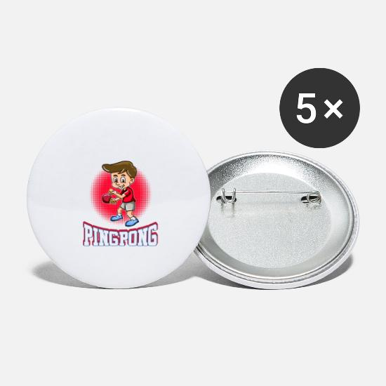 Backhand Buttons - I'm Awesome At Ping Pong - Large Buttons white