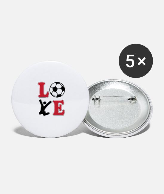 World Championship Buttons - Love Football Football - Large Buttons white