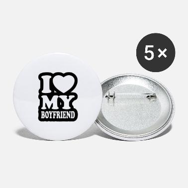 I Love My Boyfriend I love my boyfriend - Large Buttons