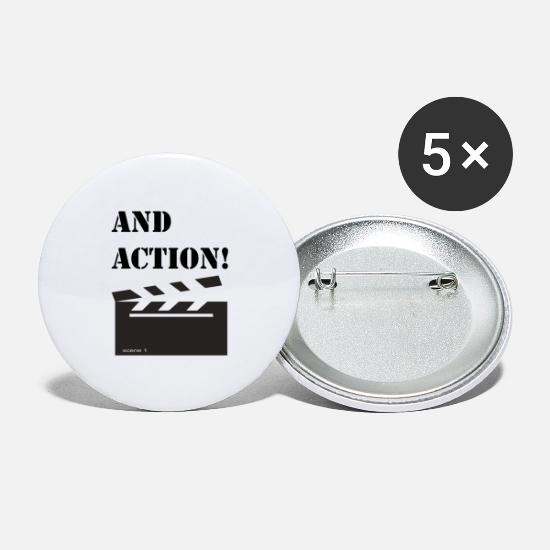 Filmmaker Buttons - and action - Large Buttons white