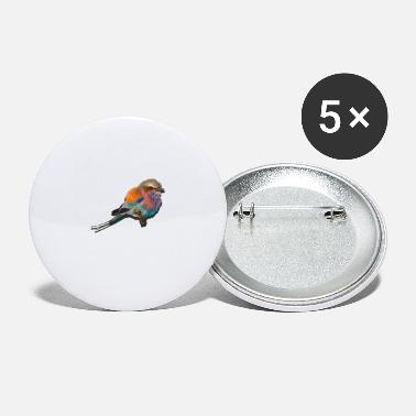 colorful bird - Large Buttons