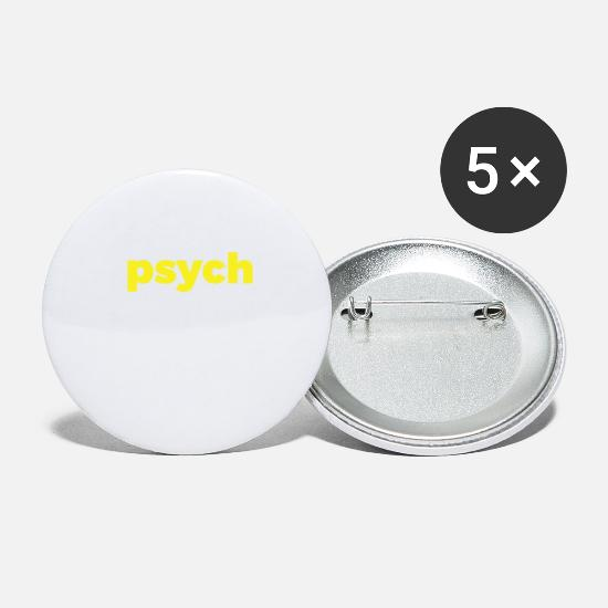 S'aimer Badges - Votre conception de tshirt psychique amical - Grands badges blanc
