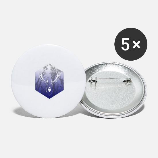 Stag Buttons - Dear Blue - Large Buttons white
