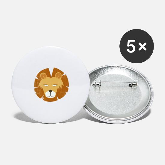Animalbird Buttons - lion - Large Buttons white
