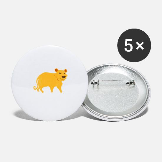 Animalbird Buttons - Jungle Animal Tiger - Large Buttons white