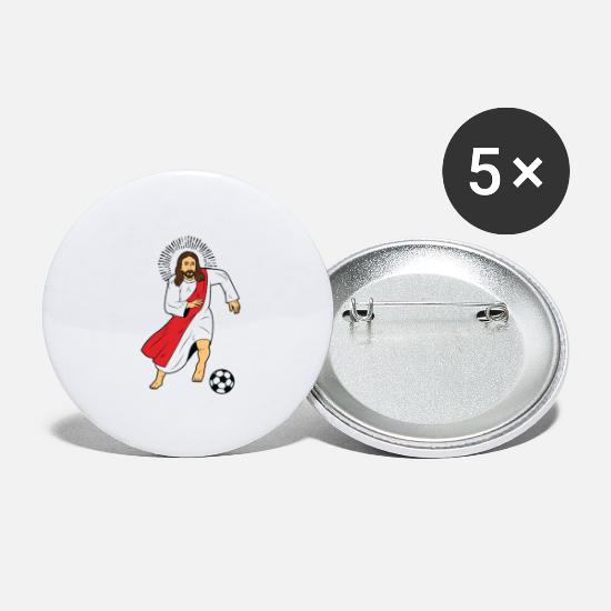 Jésus Badges - Jesus Christ Sport Football Footballeur Football - Grands badges blanc