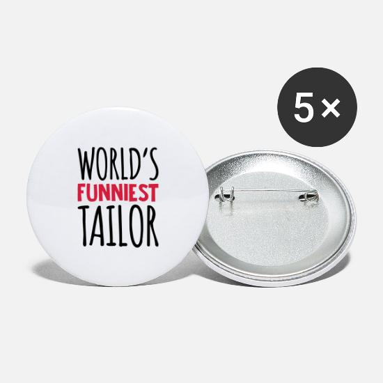 World Buttons - worlds funniest tailor - Large Buttons white