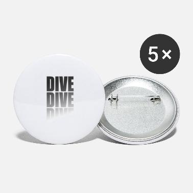 Water Scuba Diving Diving Snorkeling Diver Divers - Large Buttons