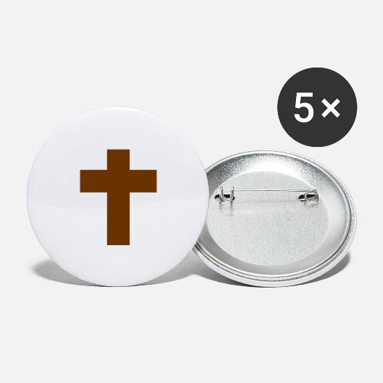 Christ Buttons - Cross Religious EN - Large Buttons white