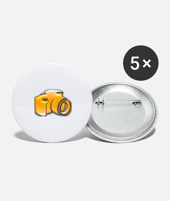 Obedience Buttons - Camera yellow - Large Buttons white