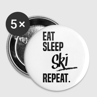EAT SLEEP SKI - Badge grand 56 mm