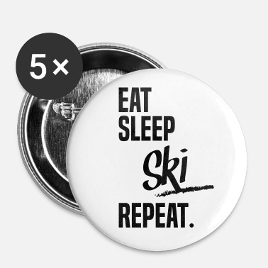 Moniteur De Ski EAT SLEEP SKI - Badge grand 56 mm