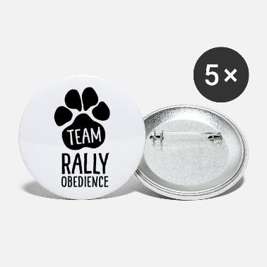 Rally Obedience Team Rally Obedience - Dog Paws - Dog Sport - Large Buttons