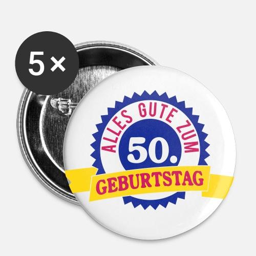 Alles Gute Zum 50 Geburtstag Buttons Gross Spreadshirt