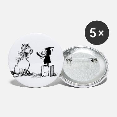 Thelwell - Pony in school - Buttons groot