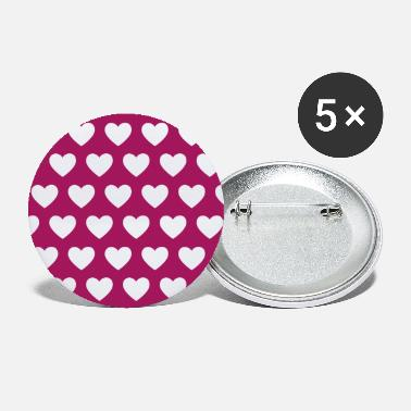 Pattern Pattern hearts (patterned) - Large Buttons