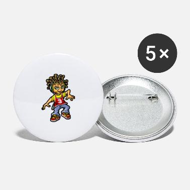Bboy bboy and dreads - Large Buttons