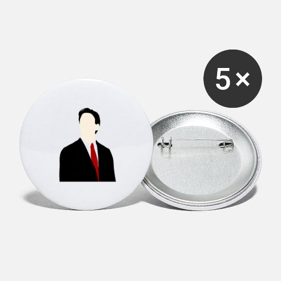 Politics Buttons - Ed Miliband silhouette - Large Buttons white
