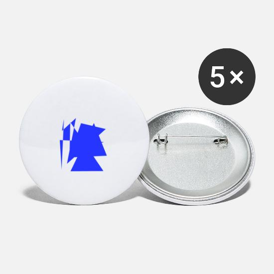Painting Buttons - Blue drawing - Large Buttons white