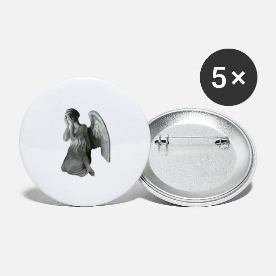 Wink Buttons & Anstecker - Weeping angel - Buttons groß Weiß