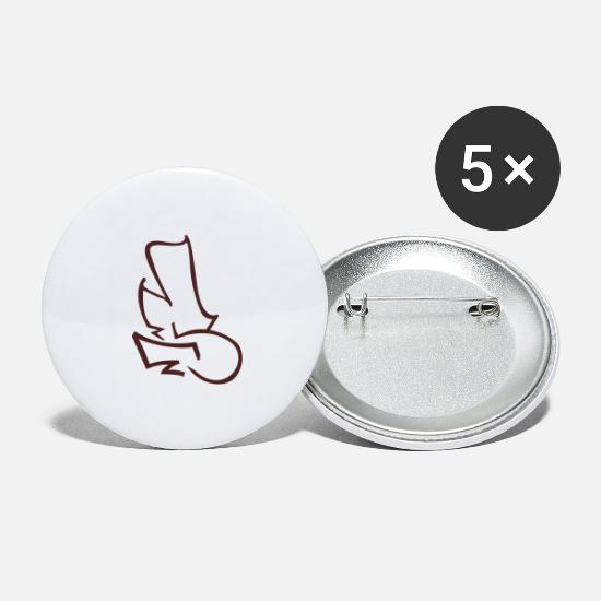 Graffiti Buttons - S Tup - Large Buttons white