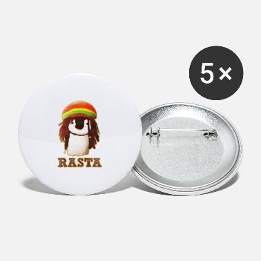 Rasta Rasta Penguin - Large Buttons
