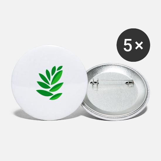 Nature Buttons - drawing leaves - Large Buttons white