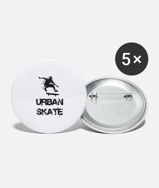 Rap Buttons - URBAN SKATE 2 - Buttons groot wit