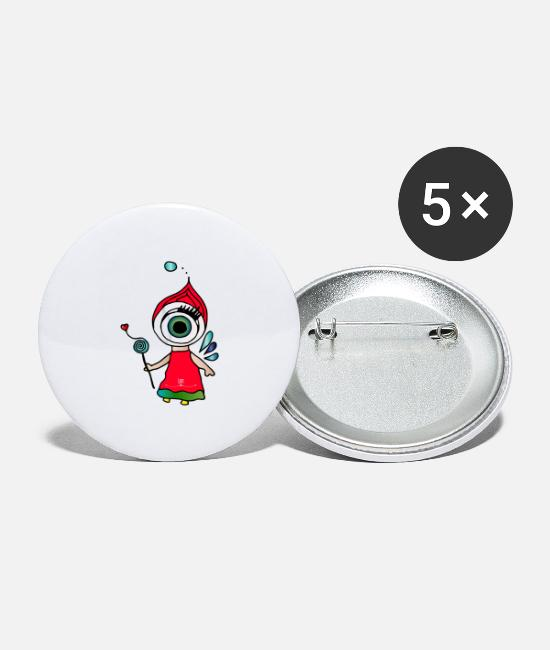 Pupil Buttons - Sense of sight - Optri - Large Buttons white