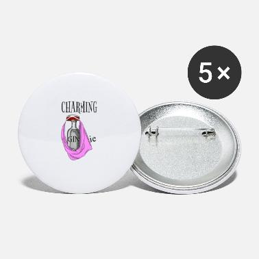 Charming GINie pun gift girls Gin and Tonic - Grands badges