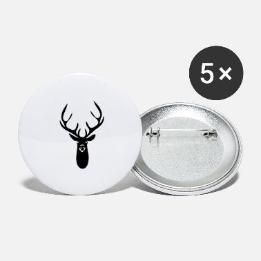 Stag Head stag - Large Buttons