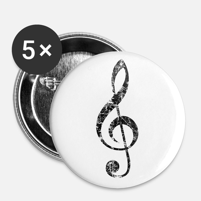 Choir Buttons - Violin key, musical key - Large Buttons white