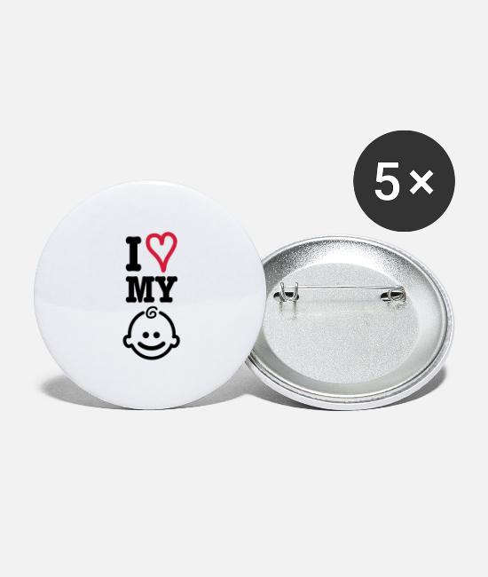 Pregnancy Buttons - baby - Large Buttons white
