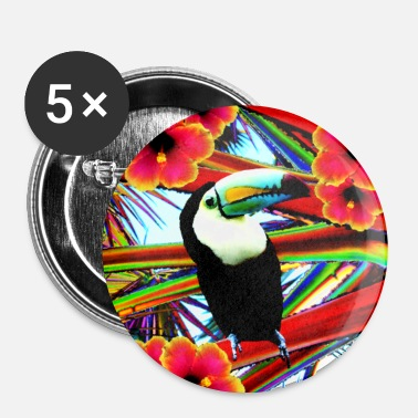 Le Toucan  - Badge grand 56 mm